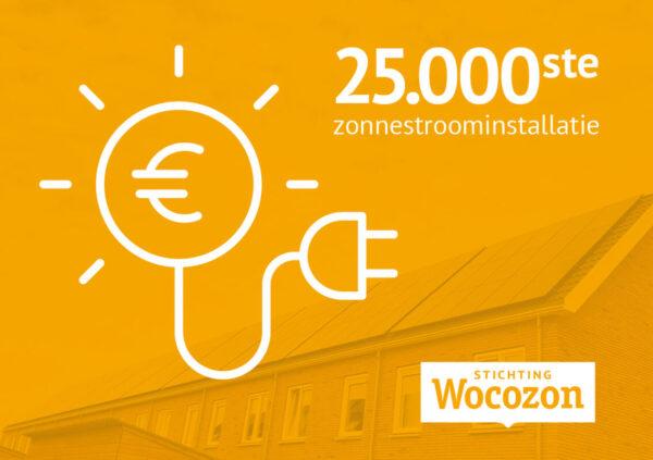 25.000ste sociale huurwoning met zonnepanelen