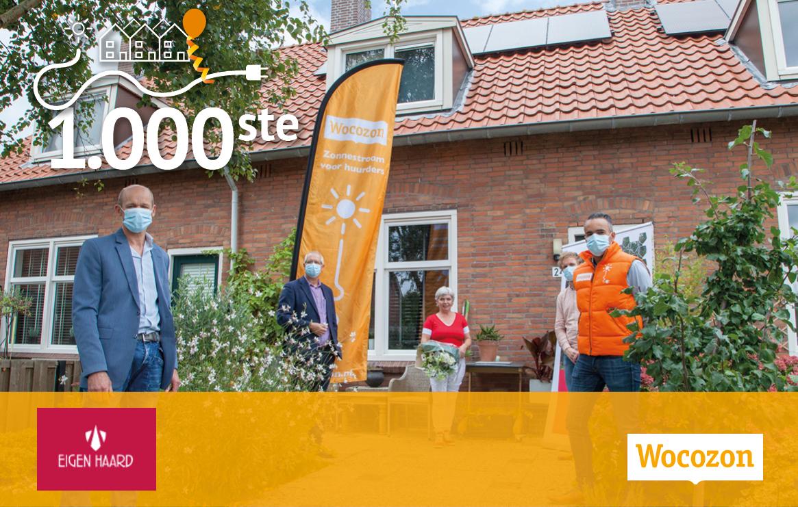 Mijlpaal voor Wocozon en Eigen Haard: samen 1.000 zonne-installaties geplaatst in één jaar!