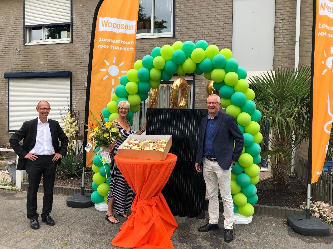 De Leeuw van Putten viert mijlpaal: 500 woningen met stichting Wocozon zonnepanelen